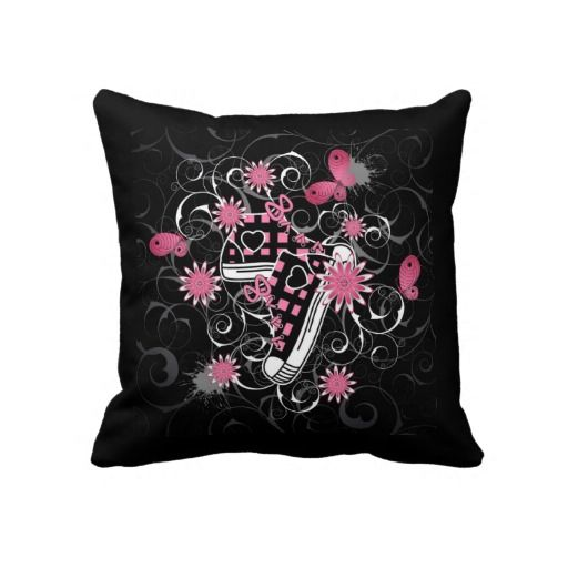 Sneakers and Flowers Pillow