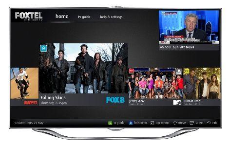 Foxtel on Samsung Smart TV interface revealed Current