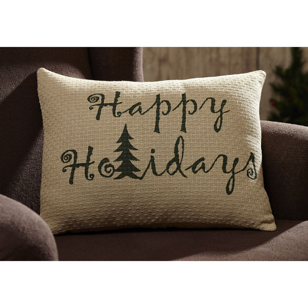 Evergreen pillow happy holidays products pinterest products