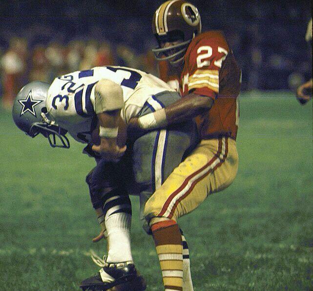 Lance Alworth Catching Ken Houston stops Walt...