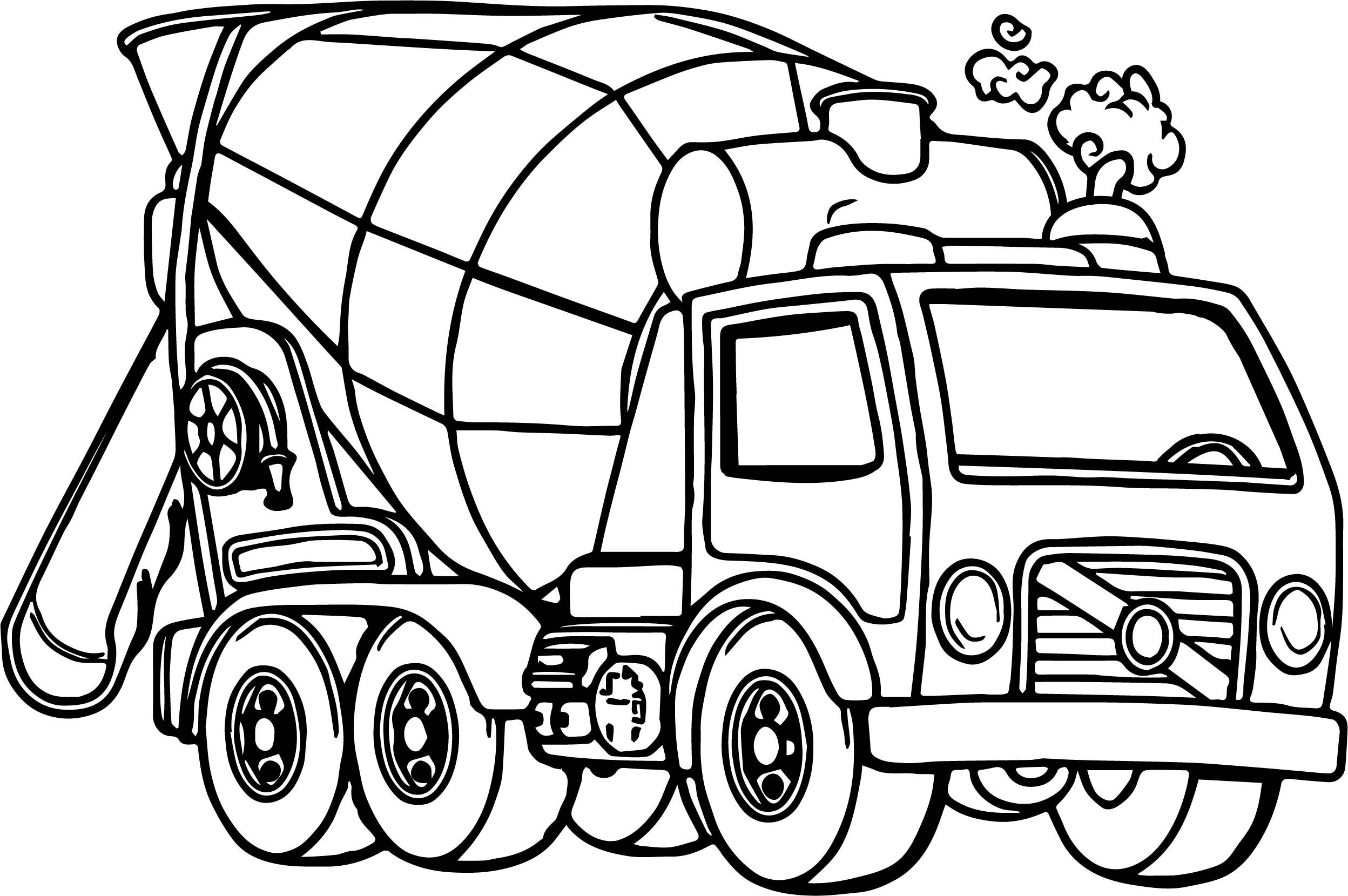Truck Coloring Pages Coloring Pages Good Cement Truck