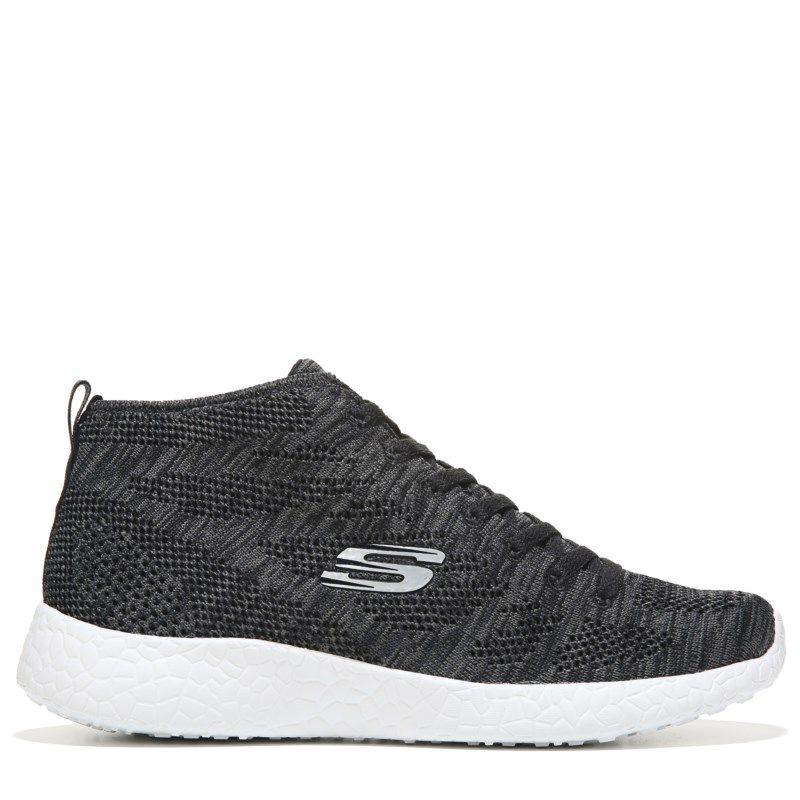 Skechers Burst Divergent Memory Foam Chukka Sneaker Black/White - Womens Shoes