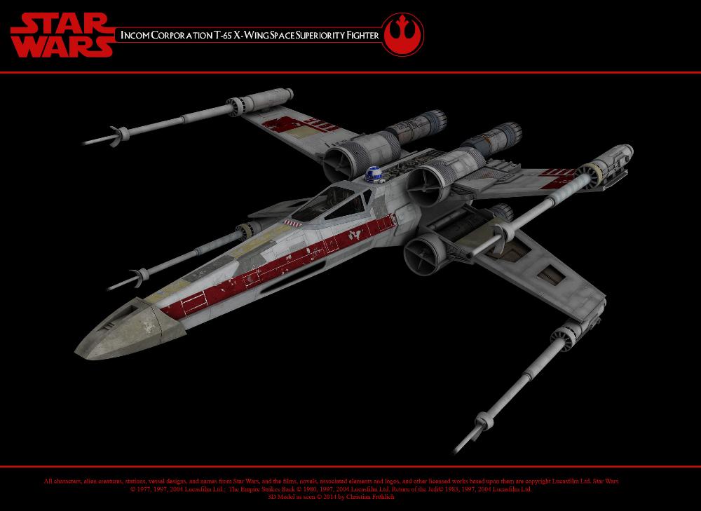 T 65 X Wing Starfighter By Christian Frohlich Star Wars Fan Art T 65 X Wing Star Wars
