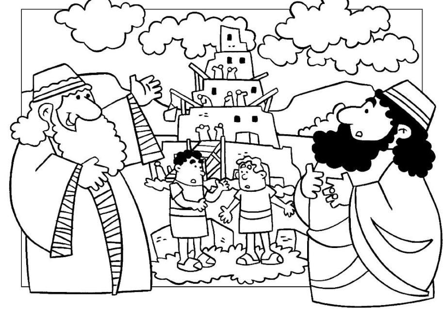 Tower Of Babel Coloring Pages Tower Of Babel Printables