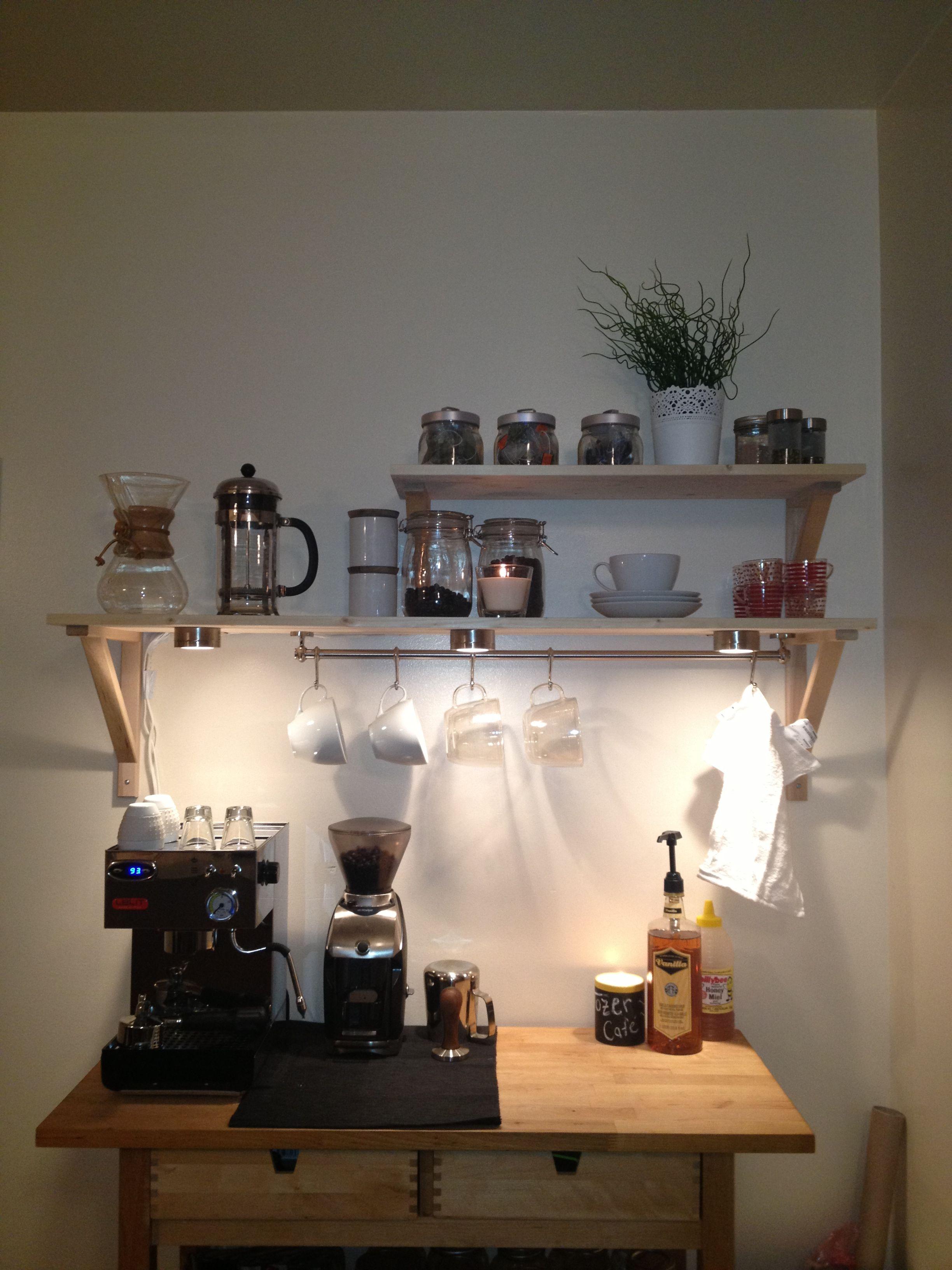 Home Espresso Bar Shelving