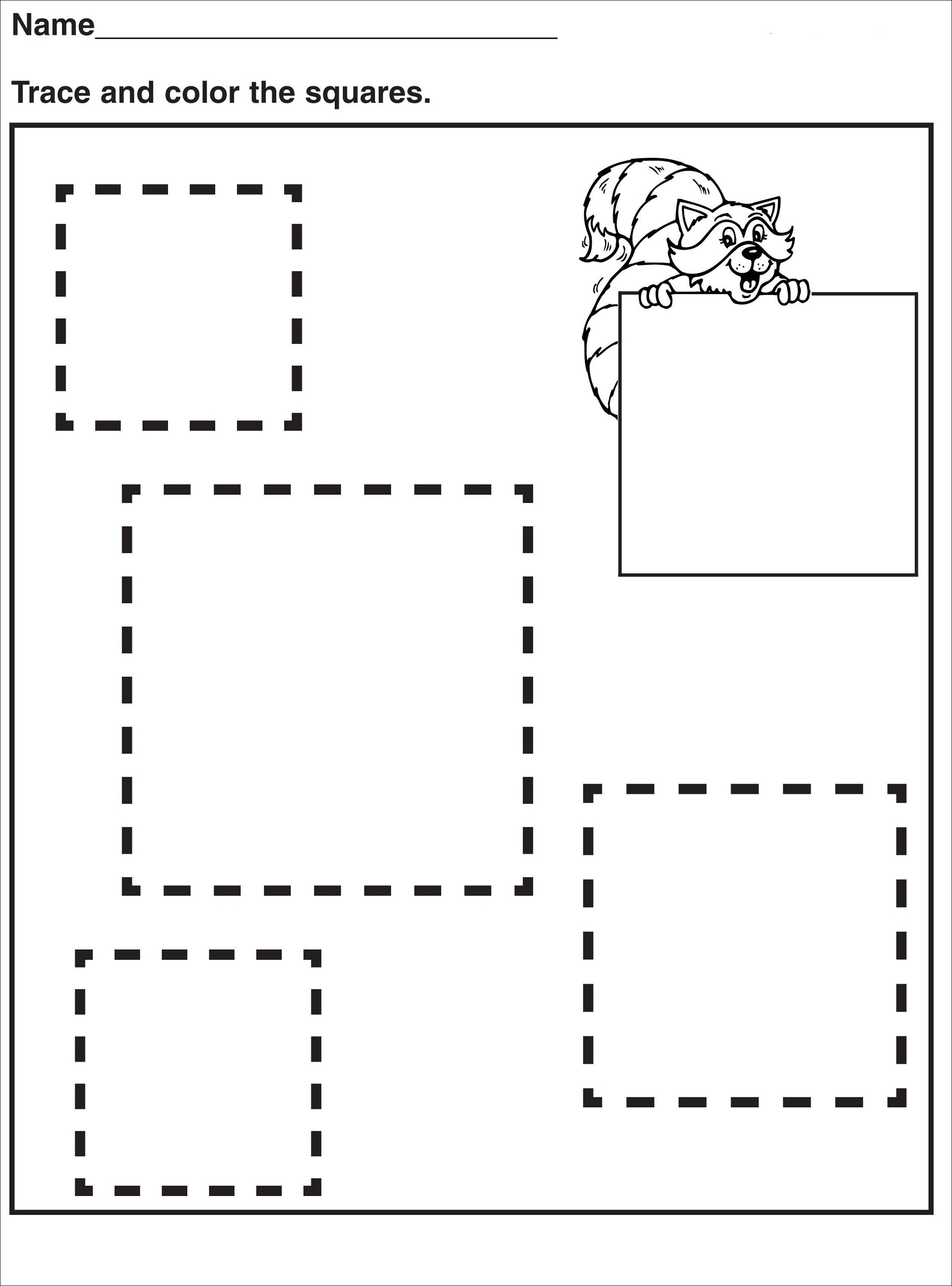 Tracing Pages for Preschool | Activity Shelter | Kids Worksheets ...