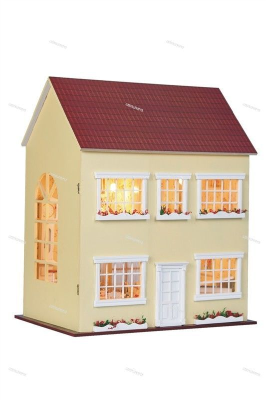 DIY Wooden Dollhouse Miniatures DIY Kits Fairy tale Of Time and Tide New Arrival