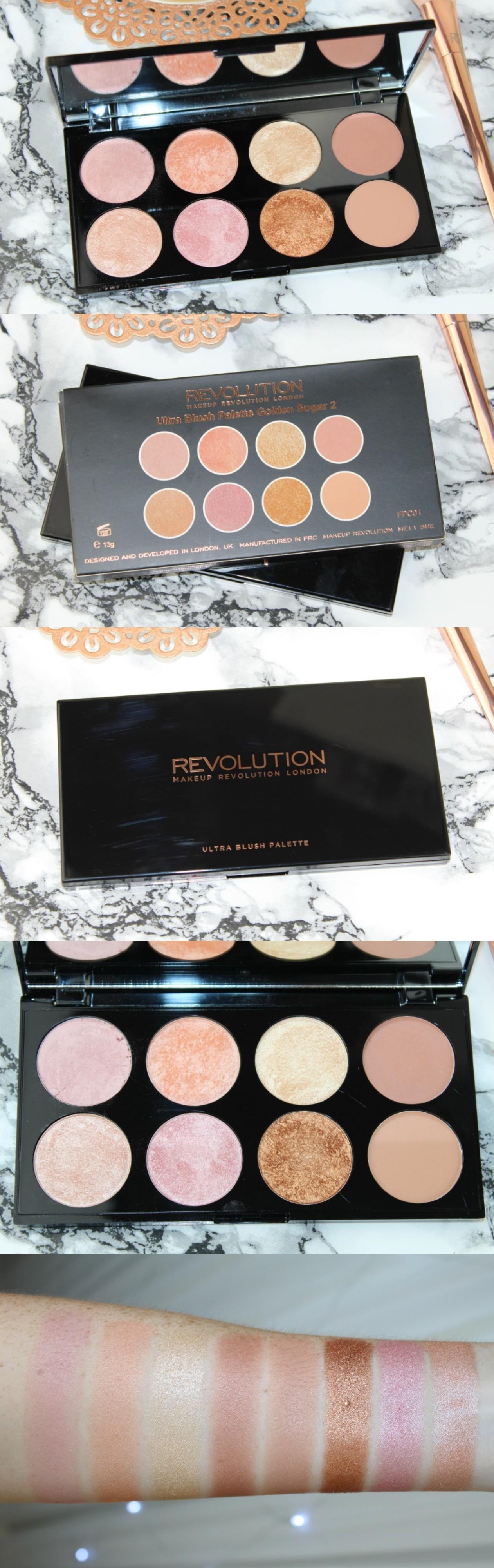 Revolution Golden Sugar 2 Rose Gold Review Photos - http://pinkparadisebeauty