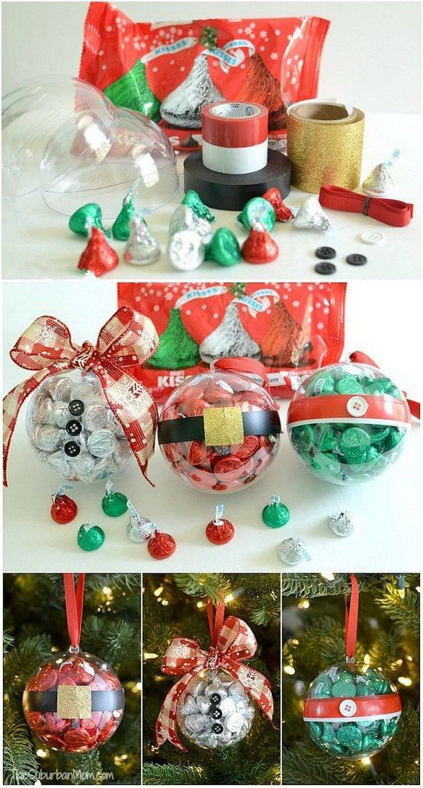 45+ Personalized DIY Christmas Ornament Ideas Clear christmas