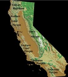 Old Map Showing The Northern Coastal Range California Coast