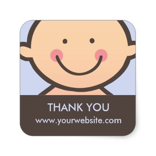 Baby Face - Blue and Brown Personalized Stickers
