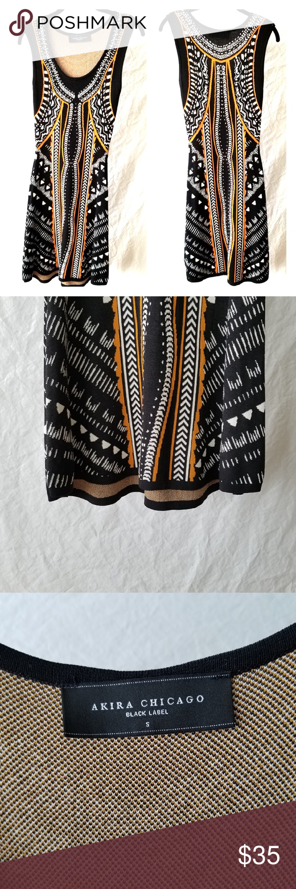 Akira Chicago Black Label Bold Print Dress Stunning