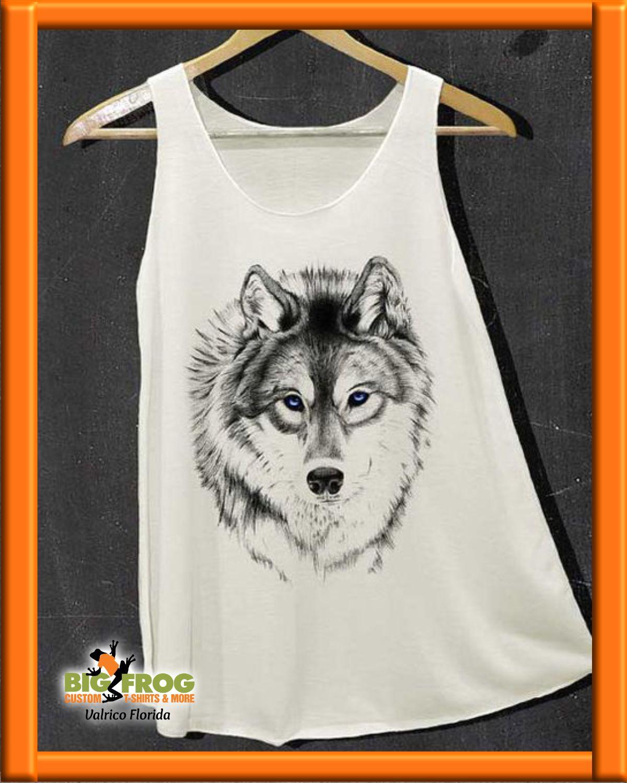 Siberian Husky, very cool. Get your own at Big Frog Custom T-Shirts of Valrico. #BigFrog #Valrico #Brandon #CustomTee #Tshirt