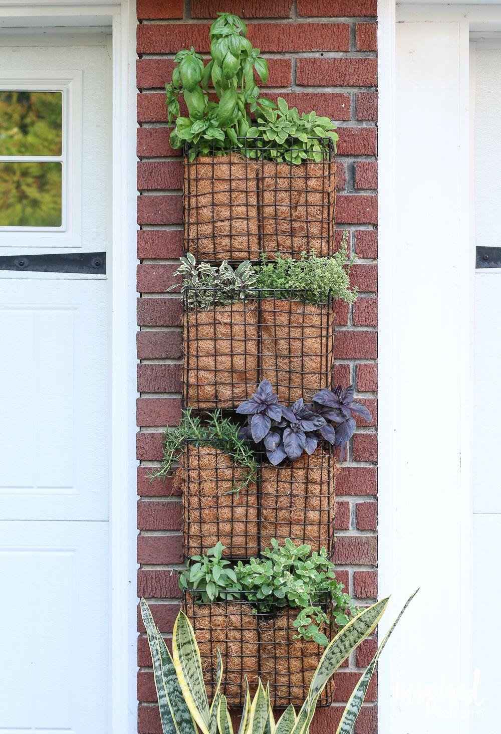 Diy Vertical Herb Garden Inspiredbycharm Com Projects