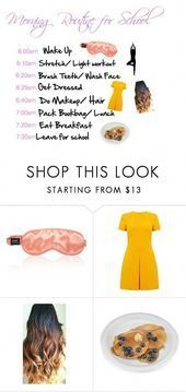 Morning Routine for School by purplebee3 on Polyvore featuring interior, interio... #morningroutine