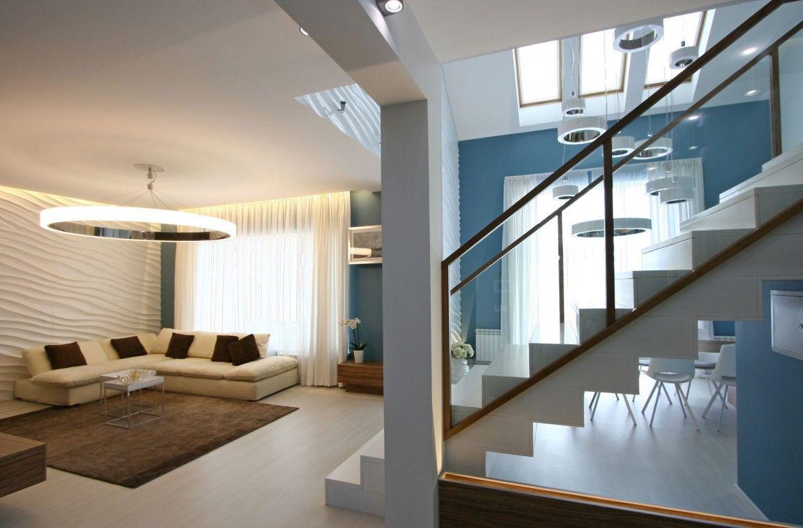 Diseno Casa Moderna Dos Plantas Y Planos Disenos De Casas Casas Modernas Interiores Casa De Dos Niveles