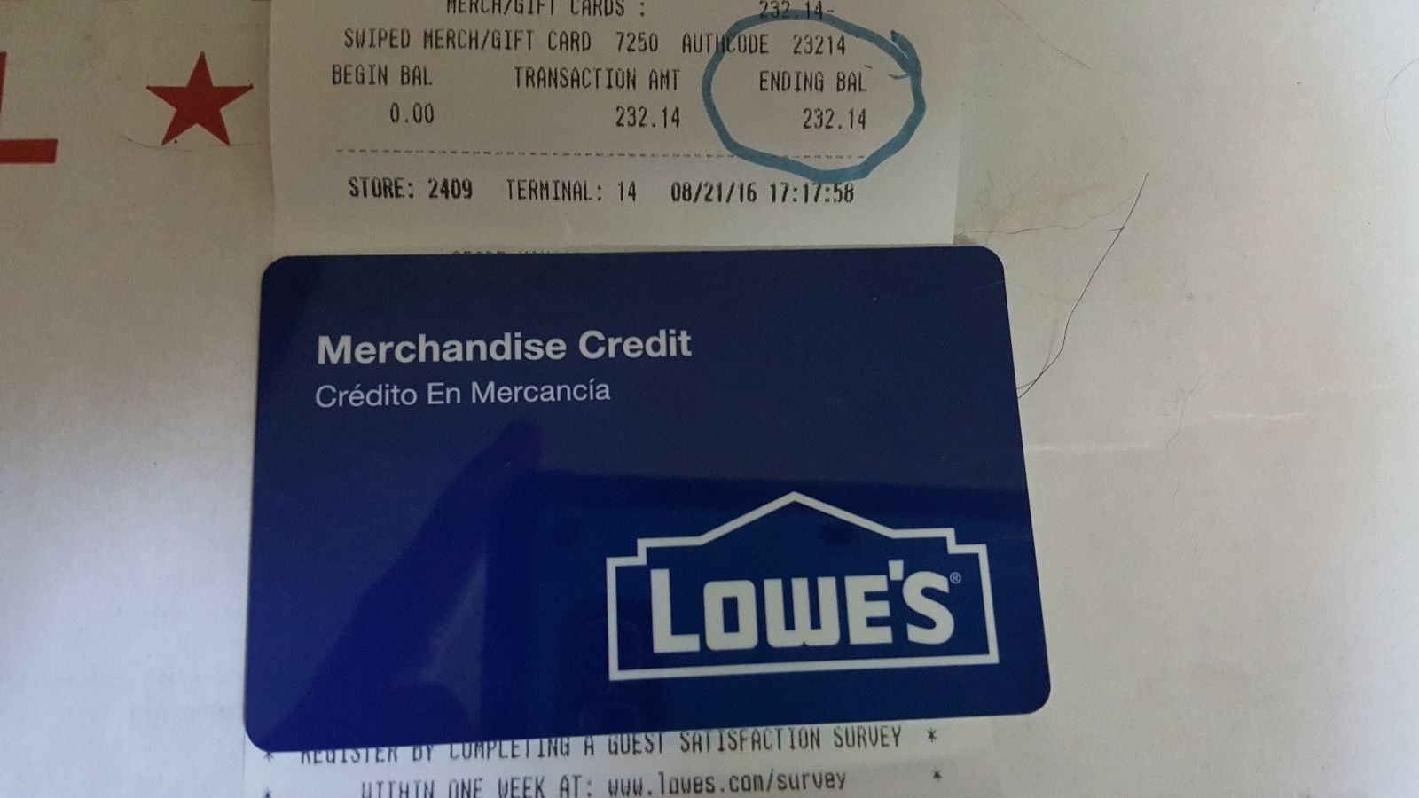$232.14 LOWES GIFT CARD MERCHANDISE CREDIT TWO HUNDRED THIRTY TWO DOLLARS  https://t.co/iCrvlb4zrS https://t.co/ojCvCQDBDO