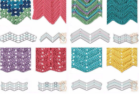 Best 8 Herringbone, Zig Zag Crochet Stitches for Free ⋆ Crochet Kingdom #crochetstitches