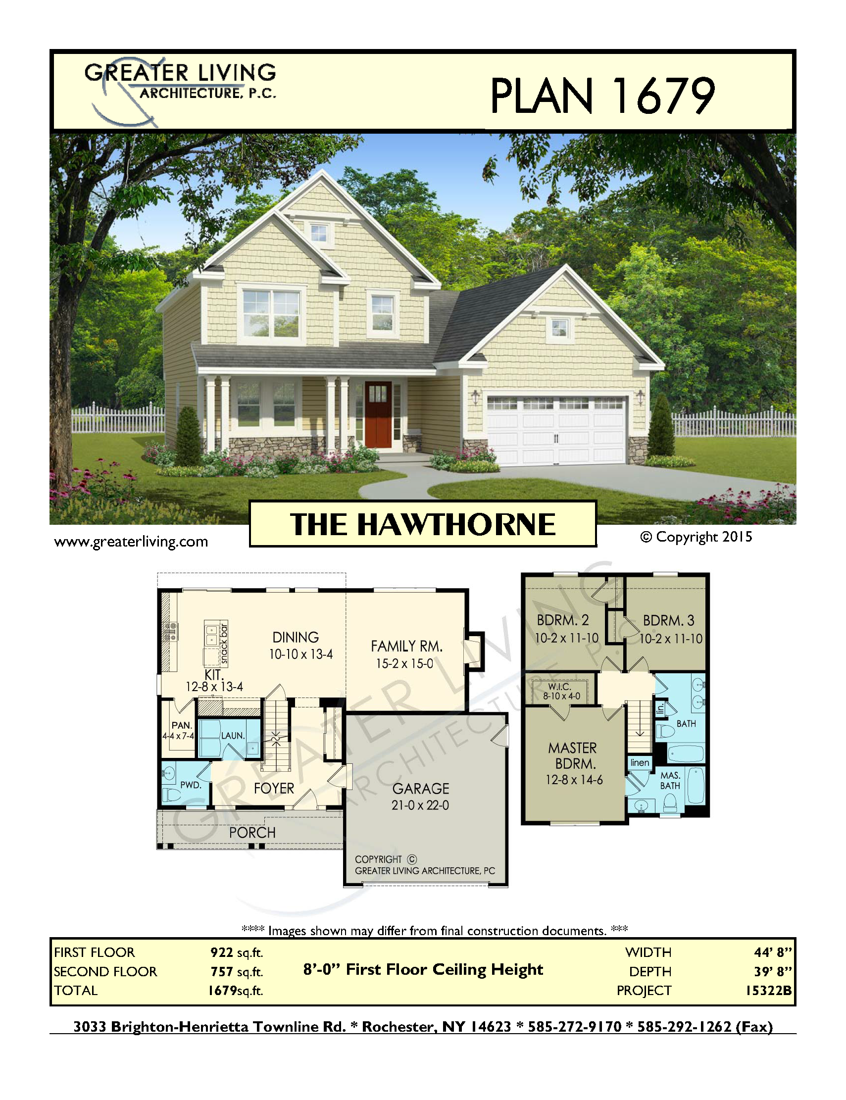 Plan 1679 the hawthorne house plans 2 story house plan greater living
