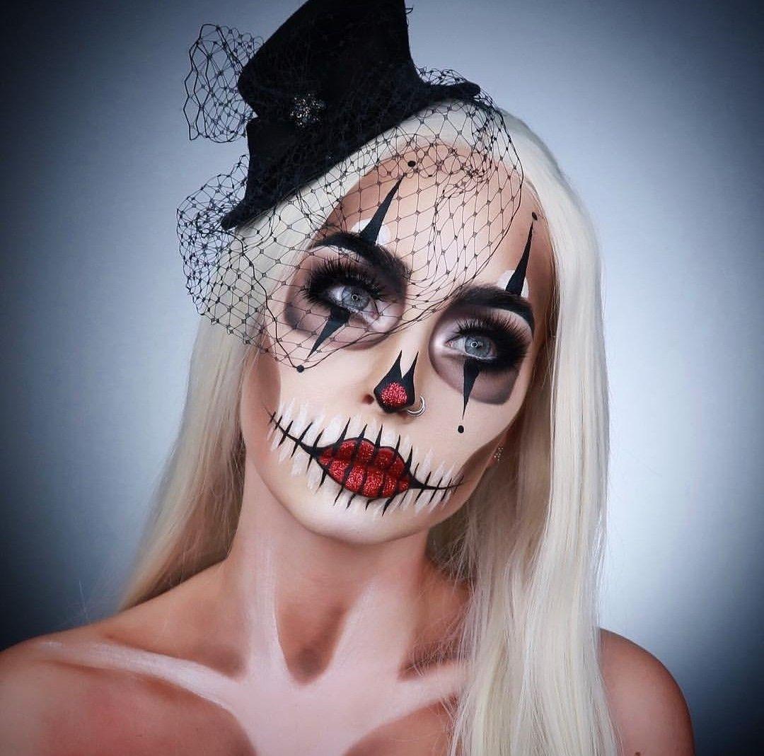 Maquillage Artistique Halloween.Clown By Marioncameleon Idee Maquillage Halloween Maquillage Halloween Maquillage Clown