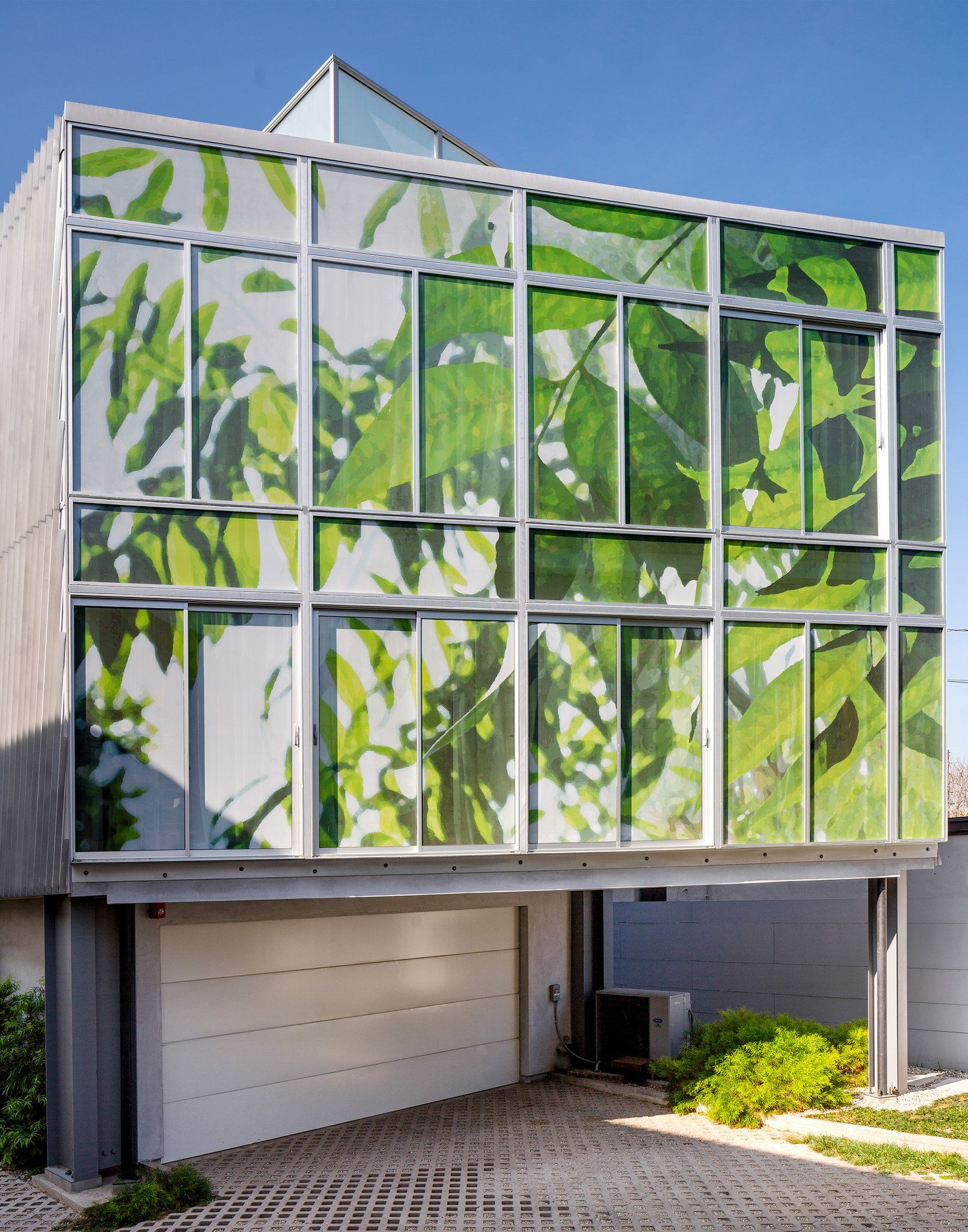 Architect Whitney Sander Covered Windows With Giant Stickers Like