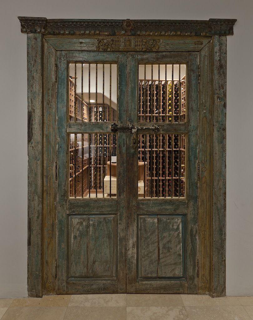 Antique doors lead to wine cellar doors pinterest doors