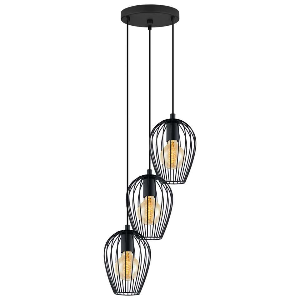 Eglo Hanglamp Newtown Zwart Hanglamp Plafondverlichting Lampen Leenbakker