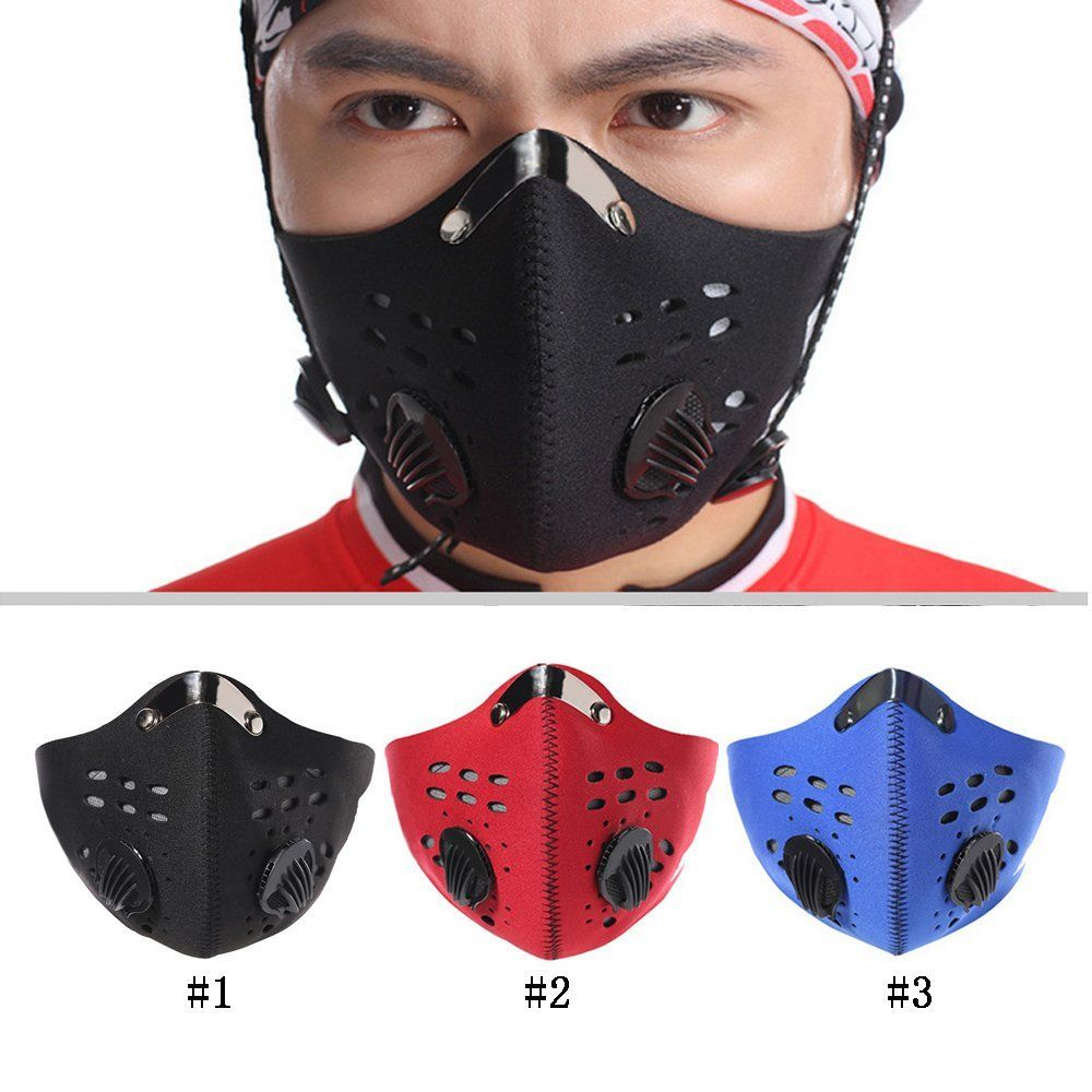 Unisex Cycling Anti-Dust Cotton Half Face Mask Racing Motorcycle Mouth Mask