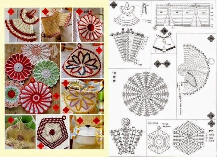 Patrones ganchillo de agarraderas | ganchillo | Pinterest | Crochet ...