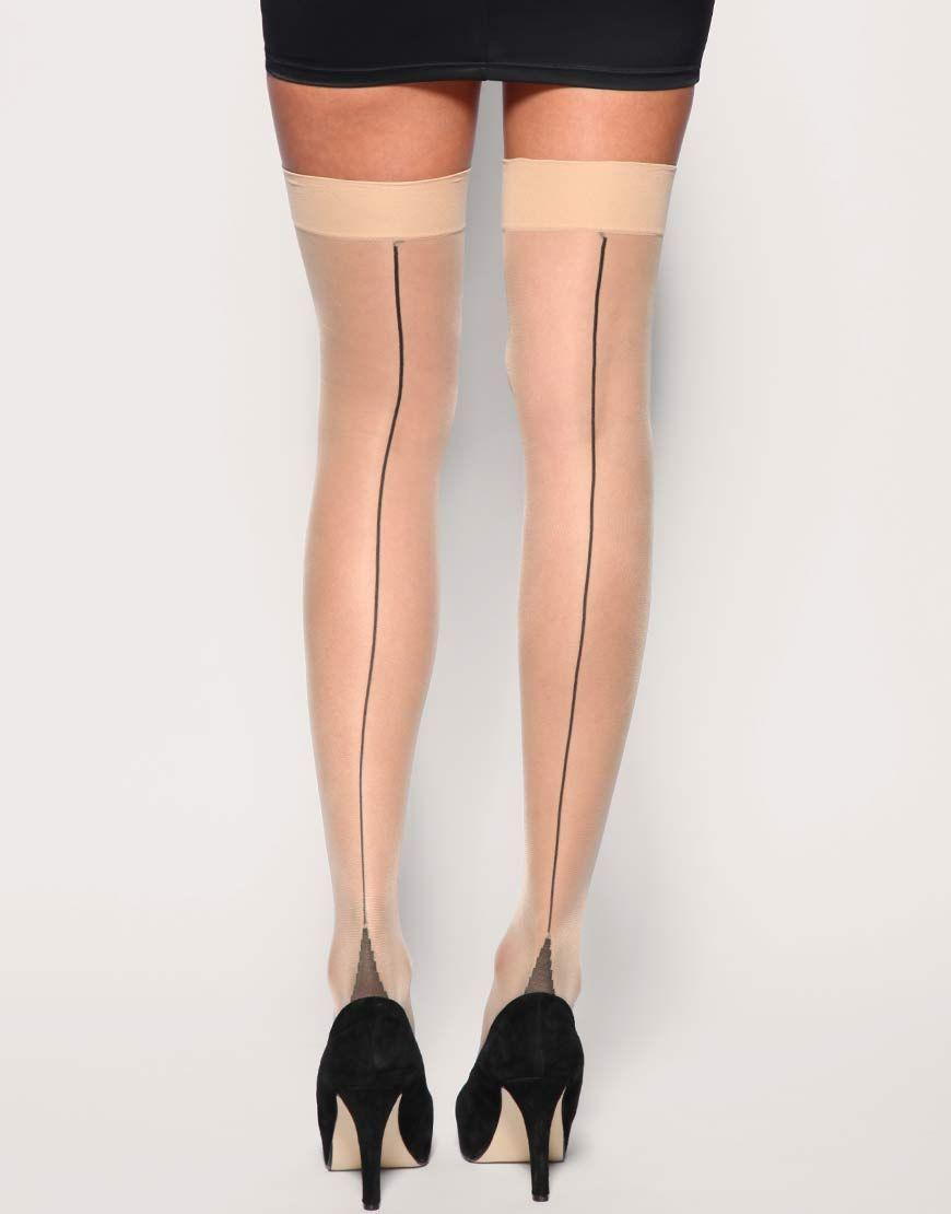 Pantyhose Seam Orange Black Images
