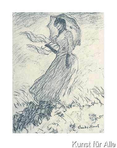 Claude Monet Frau Mit Sonnenschirm Monet Claude Artist