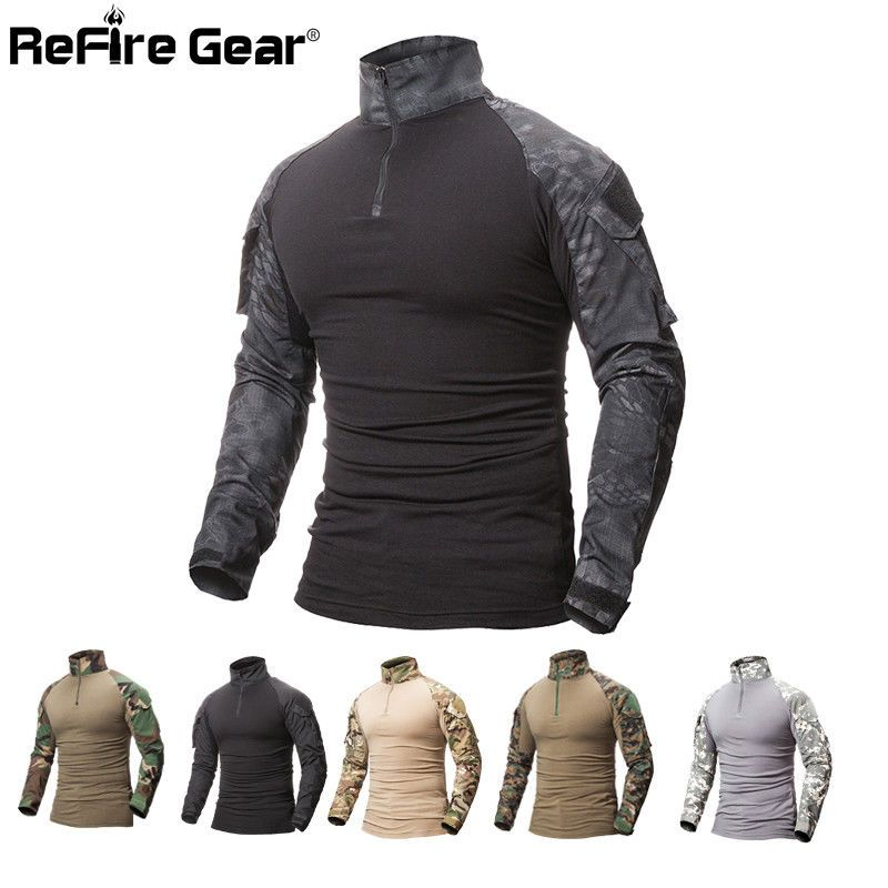 d35c152ad 21.85 | ReFire Gear Camouflage Military T-Shirt Army Combat Tactical T  Shirt Men ❤ #refire #camouflage #military #combat #tactical #Urban #clothes  #tips ...
