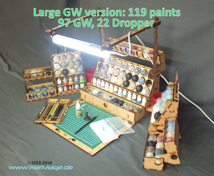 A Carry Case For Up To 162 Paints Miniatures Tools