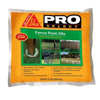 Sika 33 Fl Oz Fence Post Mix 483503 The Home Depot Fence Post Fence Diy Fence