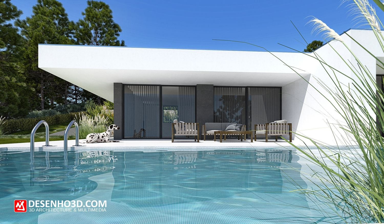 ARCHITECTURE 3D, MODERN HOUSE 3D, DESIGN 3D, HOME IN PORTUGAL, DESENHO3D.COM