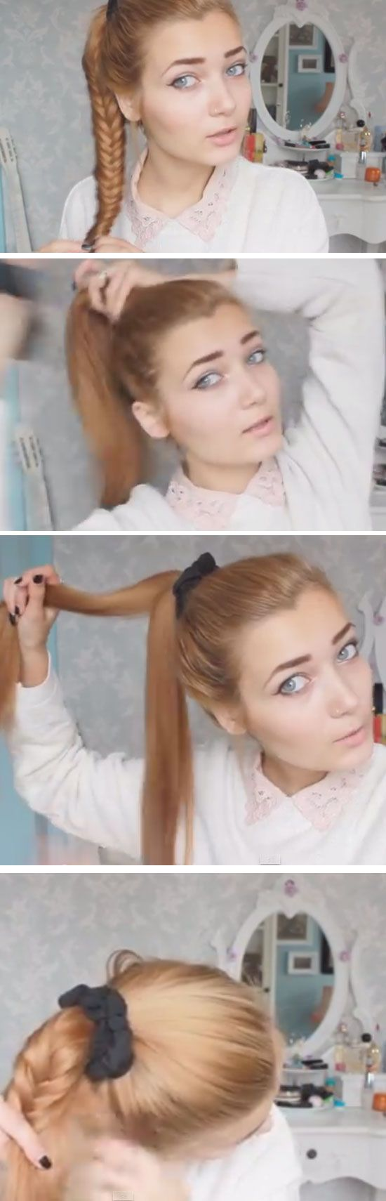 Fishtail click pic for quick and easy back to school hairstyles