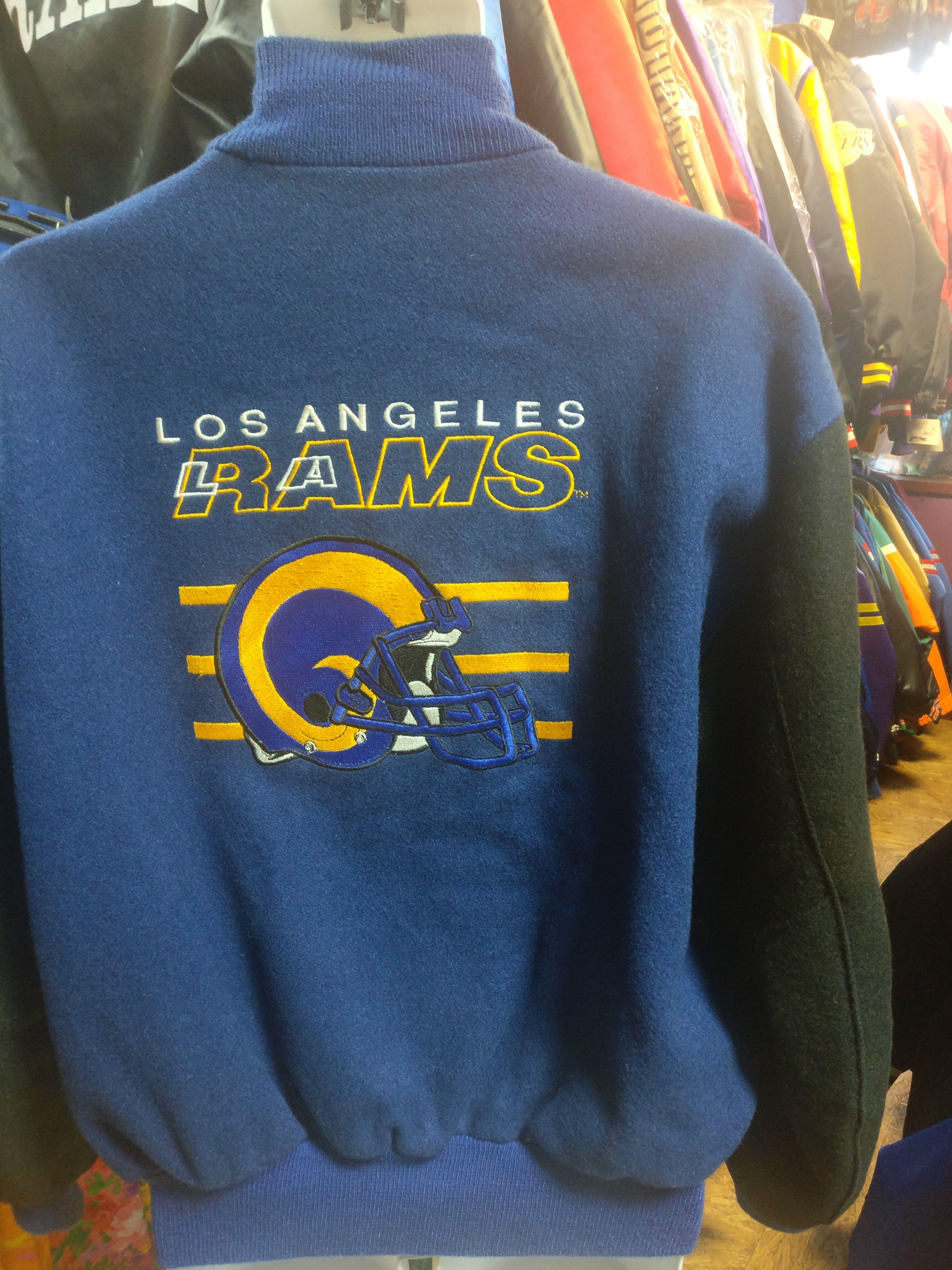 Vintage 90s Los Angeles Rams Nfl Back Patch Delong Varsity Jacket M Varsity Jacket Jackets Back Patch