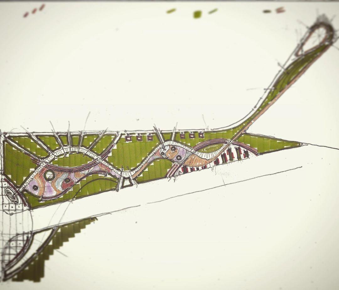 "Photo of Ramazan Ayvaz on Instagram: ""…..2019……sketch….. #ptm #ptmproje #landscapearchitecture #landscape #landarch #urbandesign #urban #design #architecture…"""