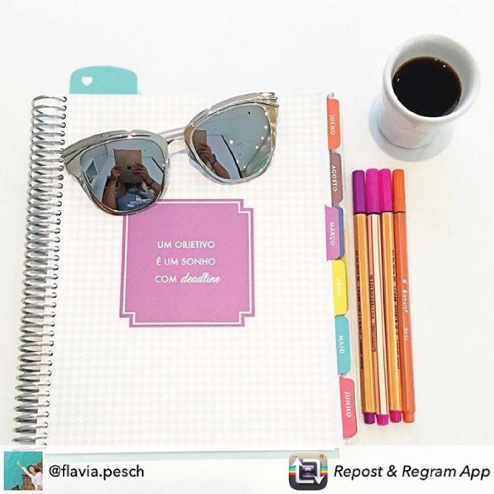 Começar o dia motivada e inspirada é muito melhor... #meudailyplanner #dailyplanner #inspiration #plannerinspiration