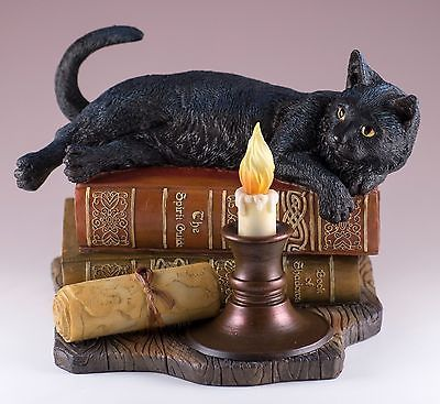 "/""Time/'s Up/"" Magic Cat Sculpture by Lisa Parker"