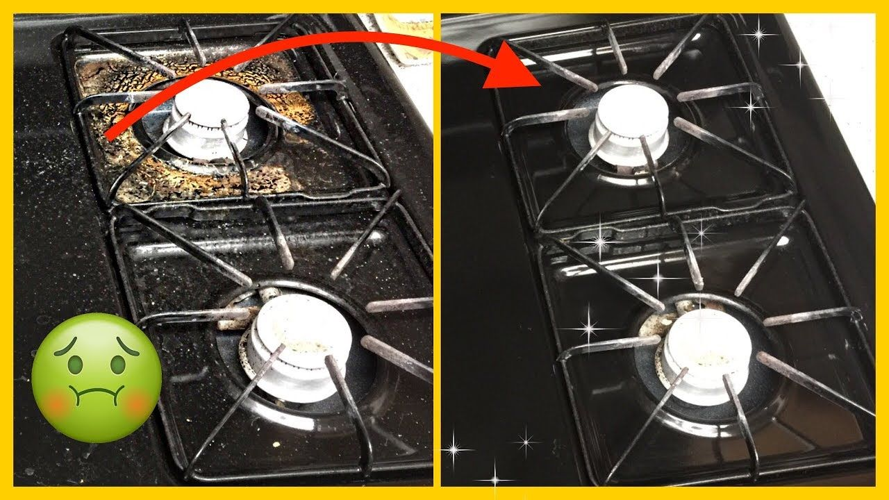 Cleaning stove with only vinegar baking soda youtube