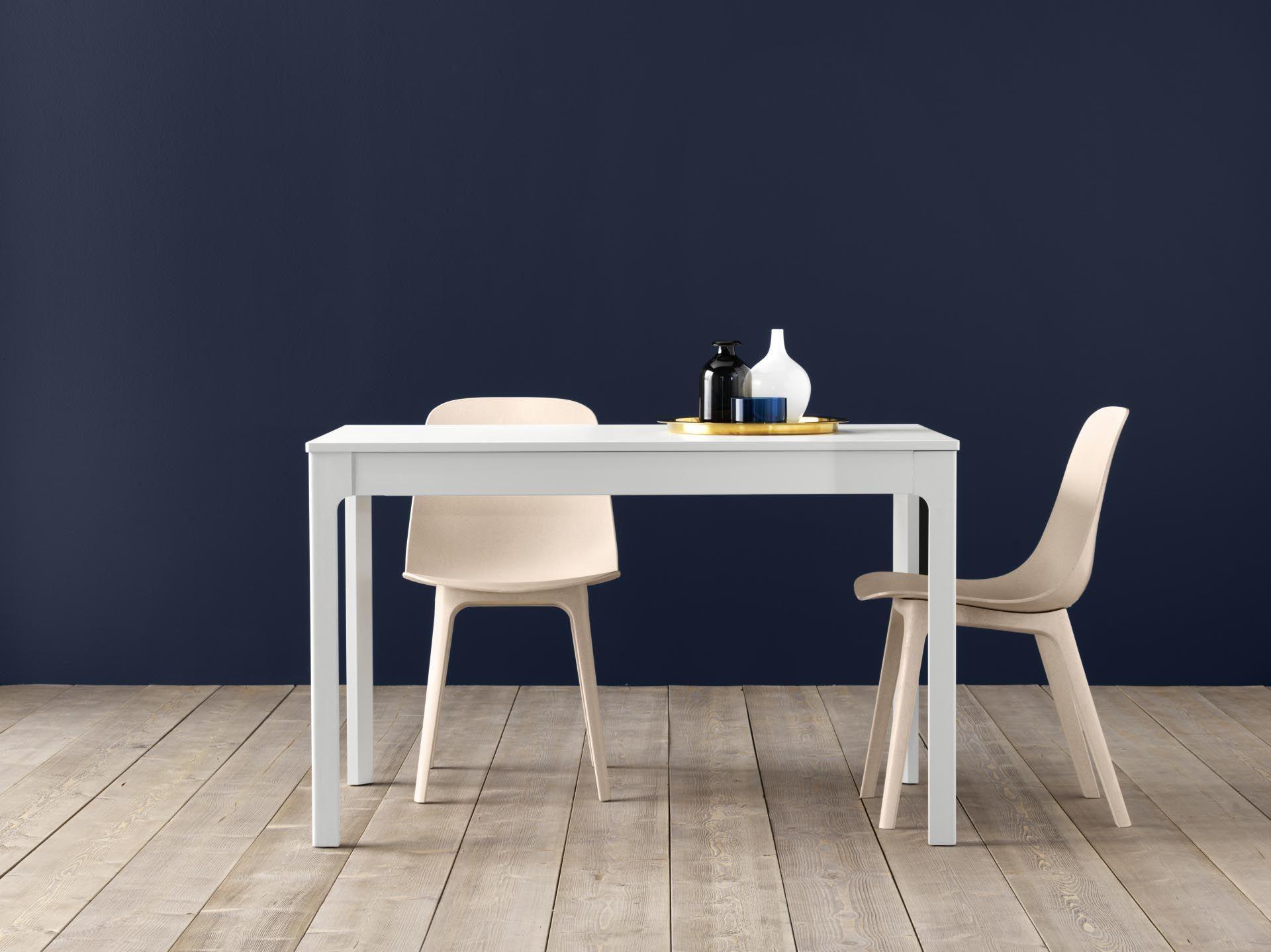 Eettafel Ikea Uitschuifbaar.Ekedalen Uitschuifbare Tafel Wit Marlou Designdroom