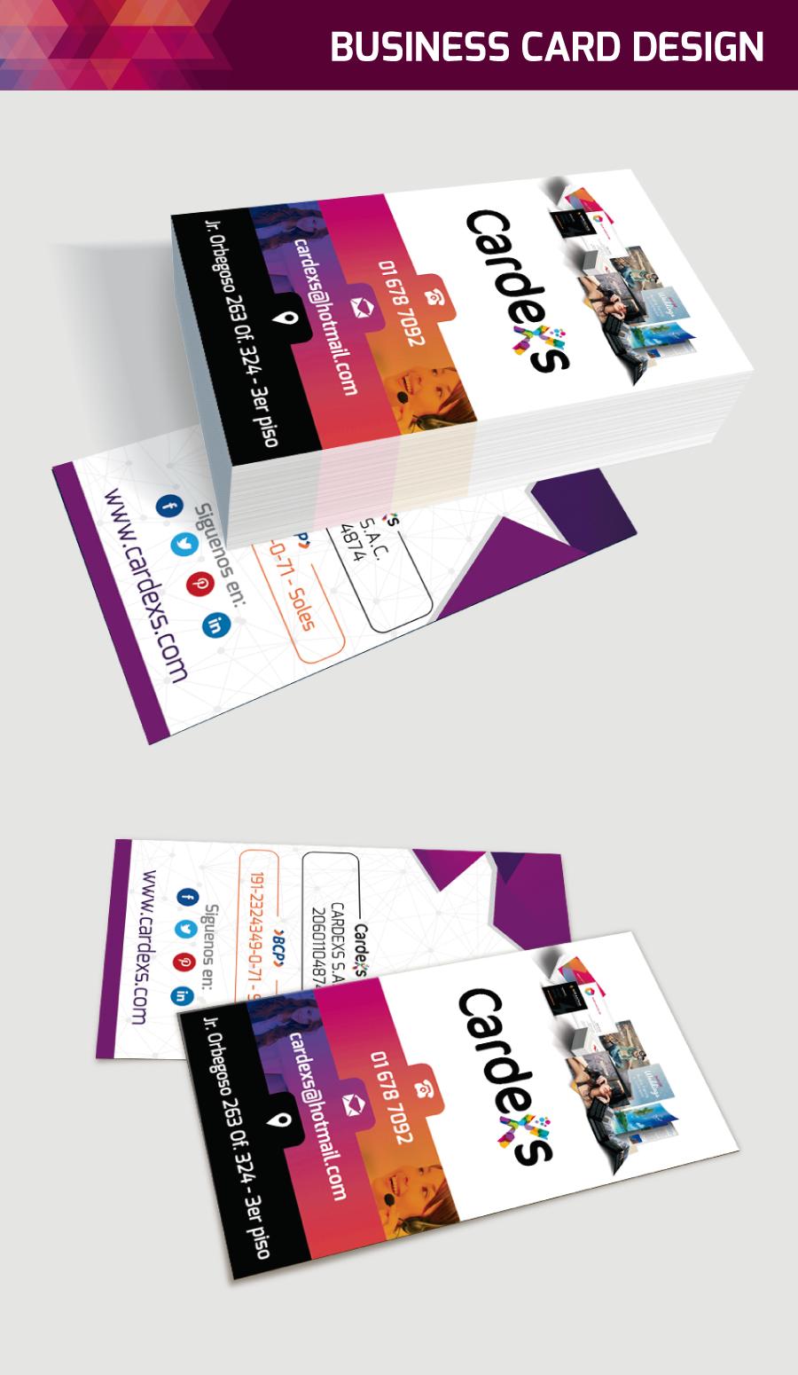 Tarjetas, volantes, flyers cardexs.com | Business Cards Design ...