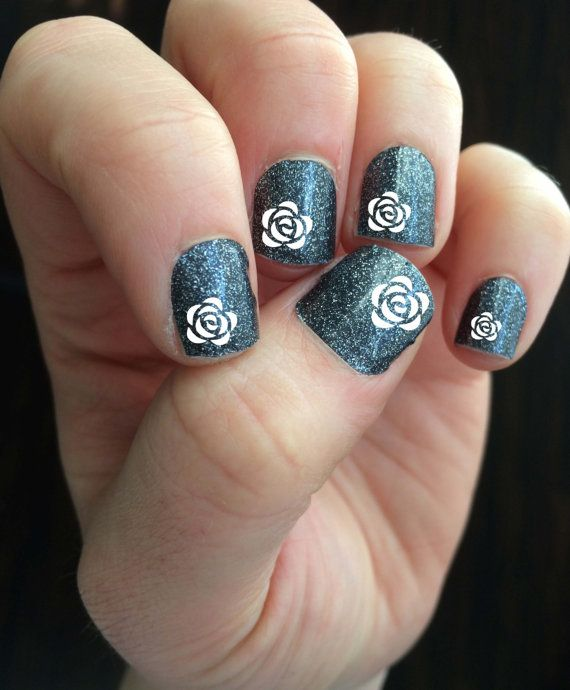 Rosette Vinyl Nail Decal Assorted size Nail Polish