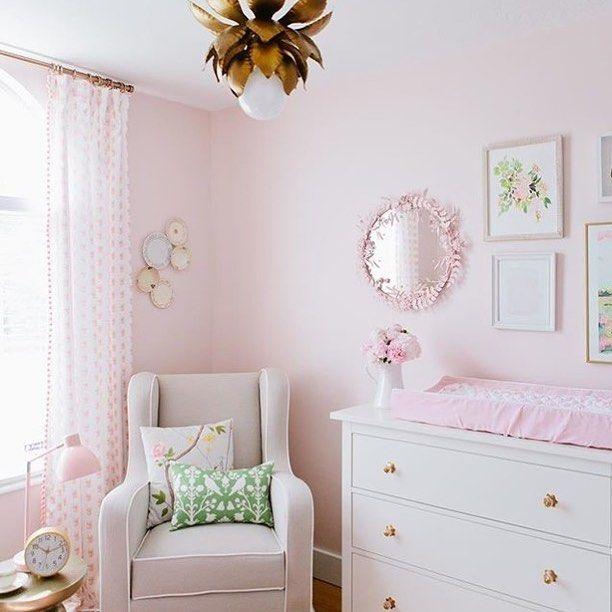 Girly Pink Nursery Decor: Girly, Glam And Gorgeous Nursery. Nursery Design By The