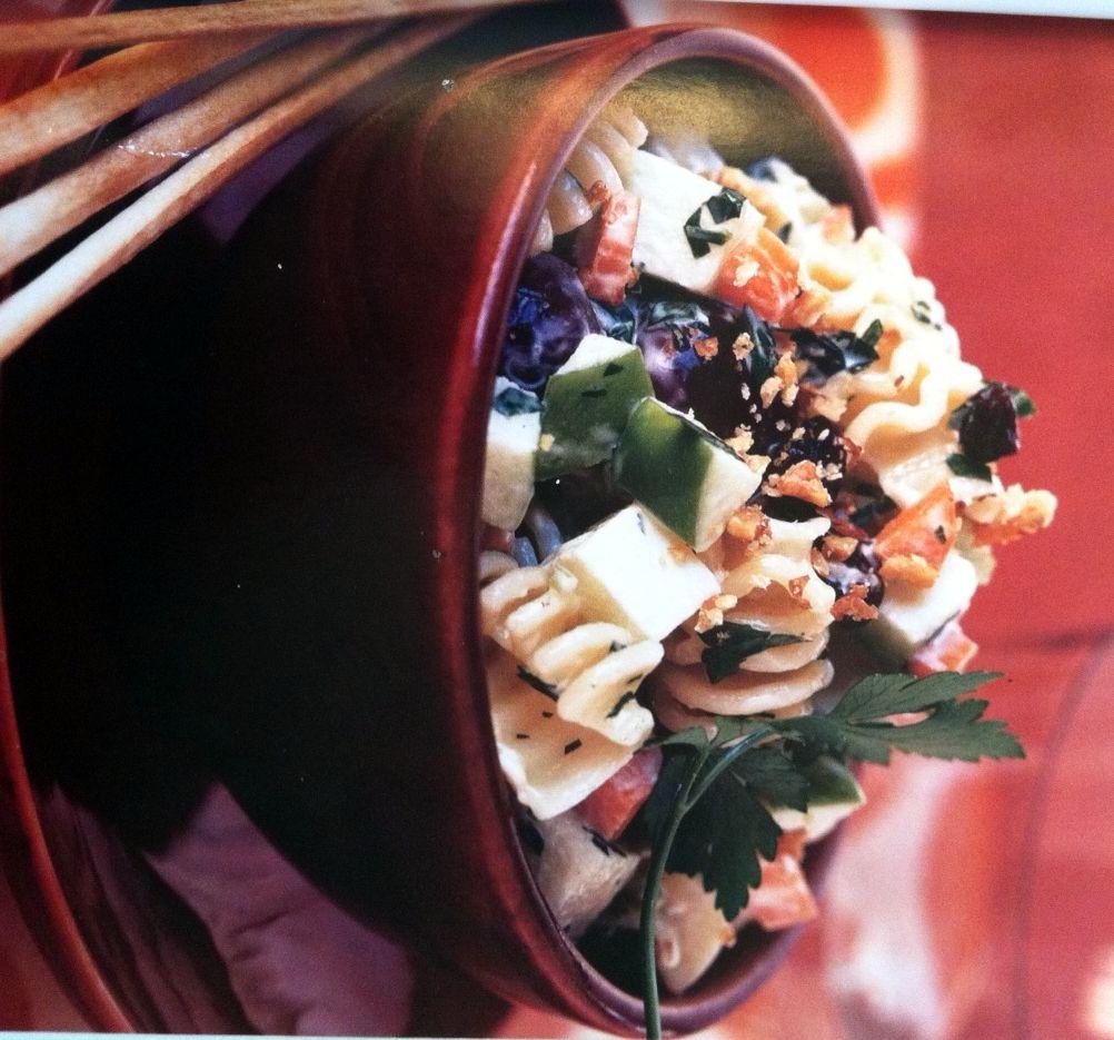 Waldorf Pasta Salad with Creamy Citrus Dressing