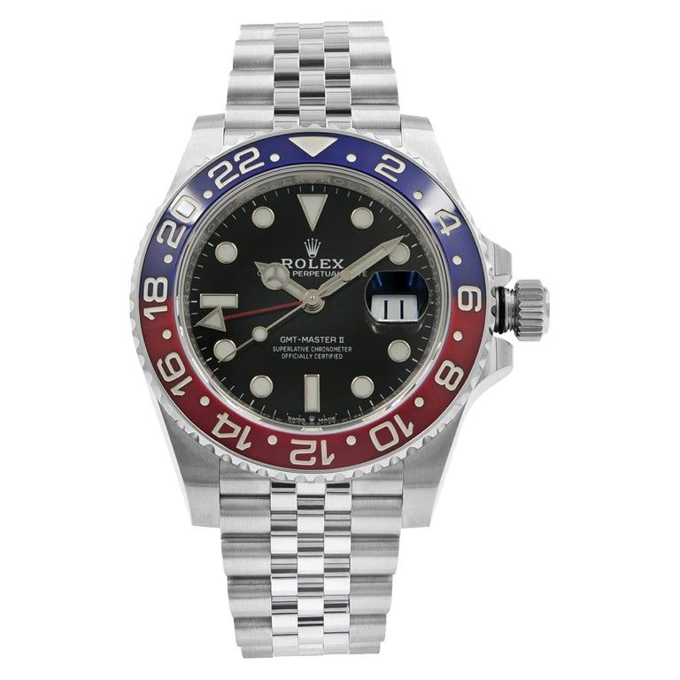Rolex Gmt-master Ii Pepsi Ceramic Steel Automatic Men's Black Watch 126710blro #rolexwatches