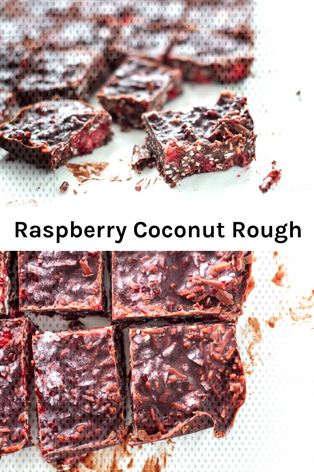 Raspberry coconut rough is a recipe you need to make now Made with only 5 ingredients and it takesRaspberry coconut rough is a recipe you need to make now Made with only...