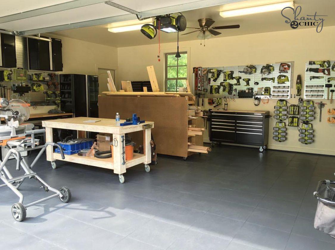 My New Garage Flooring Giveaway Garage Pinterest Steel