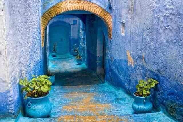 Chefchaouen City Africa Pinterest Africa And City - Old town morocco entirely blue